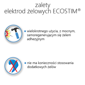 ELEKTRODA ŻELOWA OWALNA TENS/EMS/IFS/MET (STANDARD), ZE ZŁĄCZEM PIN.2mm.F1, O WYMIARACH 12,5x8cm - 1