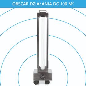 LAMPA DO DEZYNFEKCJI POMIESZCZEŃ I POWIERZCHNI 150W COMPACT ZE ŚWIETLÓWKĄ 150W (UV-C) - 3
