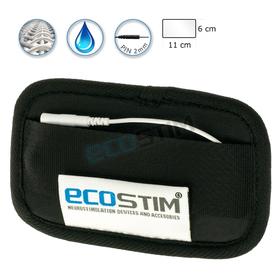TEKSTYLNA ELEKTRODA SYSTEMOWA ECOSTIM, Z WŁÓKNINĄ PRZEWODZĄCĄ SILVER CORD, WIELOKROTNEGO UŻYCIA,  DO ELEKTROSTYMULACJI,  O WYMIARACH 11x6cm - 0