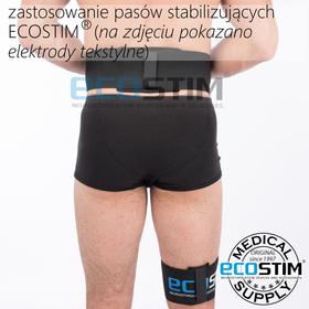 TEKSTYLNA ELEKTRODA SYSTEMOWA ECOSTIM, Z WŁÓKNINĄ PRZEWODZĄCĄ SILVER CORD, WIELOKROTNEGO UŻYCIA,  DO ELEKTROSTYMULACJI,  O WYMIARACH 11x6cm - 3