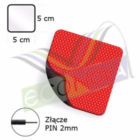 ELEKTRODA ŻELOWA KWADRATOWA TENS/EMS/IFS/MET (STANDARD),  ZE ZŁĄCZEM PIN.2mm.F1, O WYMIARACH 5x5cm - 0
