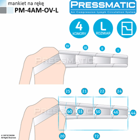 MANKIET UCISKOWY NA RĘKĘ  PM-4AM-OV-L ARM OVERLAPPED ROZMIAR  L - 0