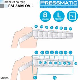 MANKIET UCISKOWY NA RĘKĘ  PM-8AM-OV-L ARM OVERLAPPED ROZMIAR  L - 0