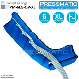MANKIET UCISKOWY NA NOGĘ PM-6LG-OV-XL LEG OVERLAPPED ROZMIAR  XL - 1