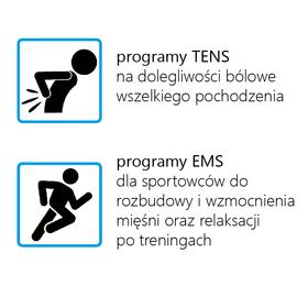 ELEKTROSTYMULATOR PRZECIWBÓLOWY I TRENINGOWY TENS/EMS ECO22 - 2