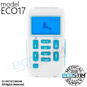 ELEKTROSTYMULATOR EMS ECO17, SPECJALIZOWANY DO STYMULACJI NERWU STRZAŁKOWEGO PRZY REHABILITACJI OPADAJĄCEJ STOPY - 0