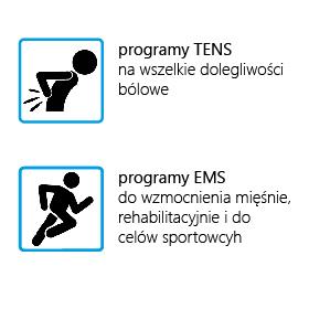 ELEKTROSTYMULATOR PRZECIWBÓLOWY I TRENINGOWY TENS/EMS ECO50 - 2
