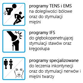 ELEKTROSTYMULATOR PRZECIWBÓLOWY I TRENINGOWY TENS/EMS/IFS ECO77 - 3