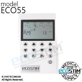 ELEKTROSTYMULATOR PRZECIWBÓLOWY I TRENINGOWY TENS/EMS ECO55 - 0