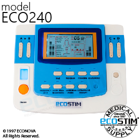 ELEKTROSTYMULATOR PRZECIWBÓLOWY I TRENINGOWY TENS/EMS/IFS ECO240 - 0