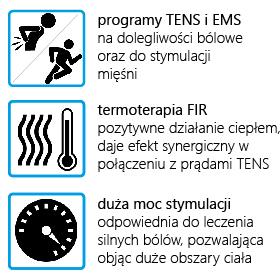 ELEKTROSTYMULATOR PRZECIWBÓLOWY I TRENINGOWY TENS/EMS/IFS ECO240 - 3