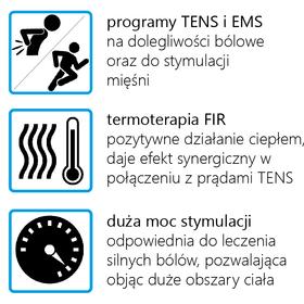 ELEKTROSTYMULATOR PRZECIWBÓLOWY I TRENINGOWY TENS/EMS ECO99 - 2