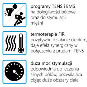 ELEKTROSTYMULATOR PRZECIWBÓLOWY I TRENINGOWY TENS/EMS ECO80 - 2