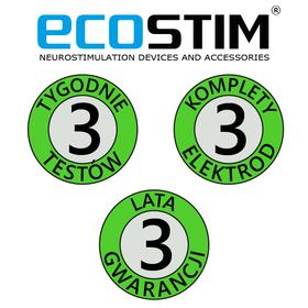 ELEKTROSTYMULATOR PRZECIWBÓLOWY I TRENINGOWY TENS/EMS ECO80 - 3
