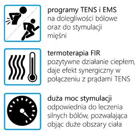 ELEKTROSTYMULATOR PRZECIWBÓLOWY I TRENINGOWY TENS/EMS ECO90 - 1