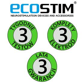 ELEKTROSTYMULATOR PRZECIWBÓLOWY I TRENINGOWY TENS/EMS/IFS ECO240 - 2