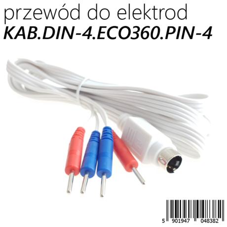 KABEL POŁĄCZENIOWY TYPU PIN-2 MĘSKI 2mm<>ECO360