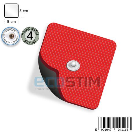 ELEKTRODA ŻELOWA PROSTOKĄTNA TENS/EMS/IFS/MET (STANDARD), ZE ZŁĄCZEM SNAP.3,6mm.F1, O WYMIARACH 5x5cm