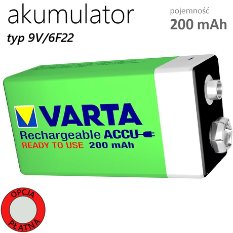 AKUMULATOR VARTA 6F22 9V Ni-MH 200mAh 8,4V