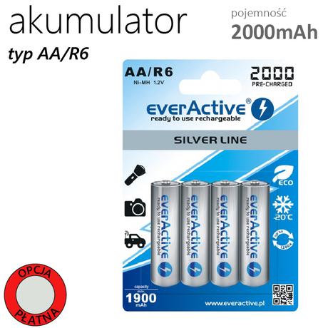 AKUMULATOR AA/R6 1,5V EVERACTIVE 2000mAh !SILVER LINE