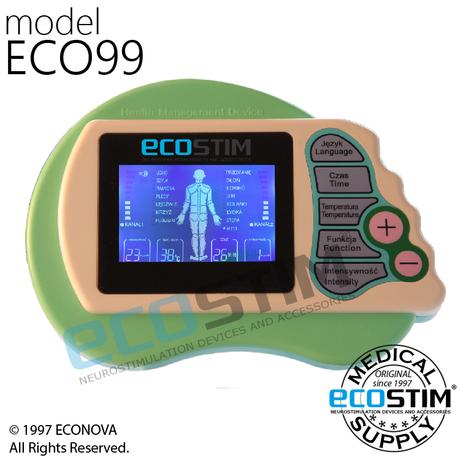 ELEKTROSTYMULATOR PRZECIWBÓLOWY I TRENINGOWY TENS/EMS ECO99