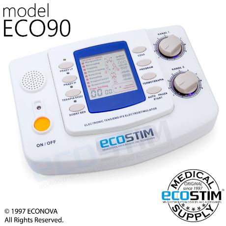 ELEKTROSTYMULATOR PRZECIWBÓLOWY I TRENINGOWY TENS/EMS ECO90