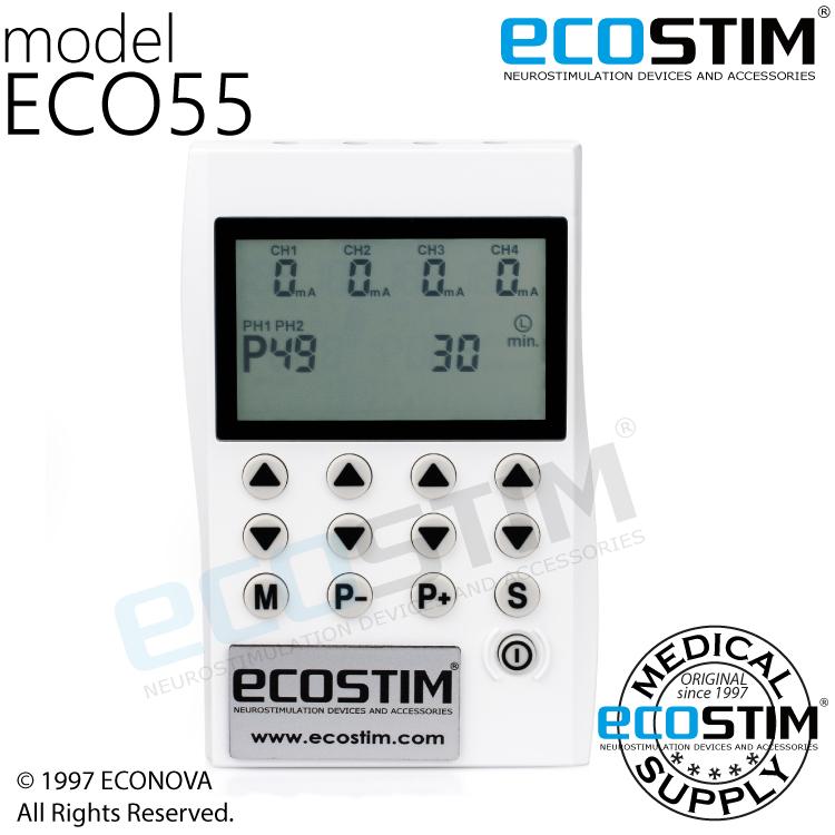 ELEKTROSTYMULATOR PRZECIWBÓLOWY I TRENINGOWY TENS/EMS ECO55