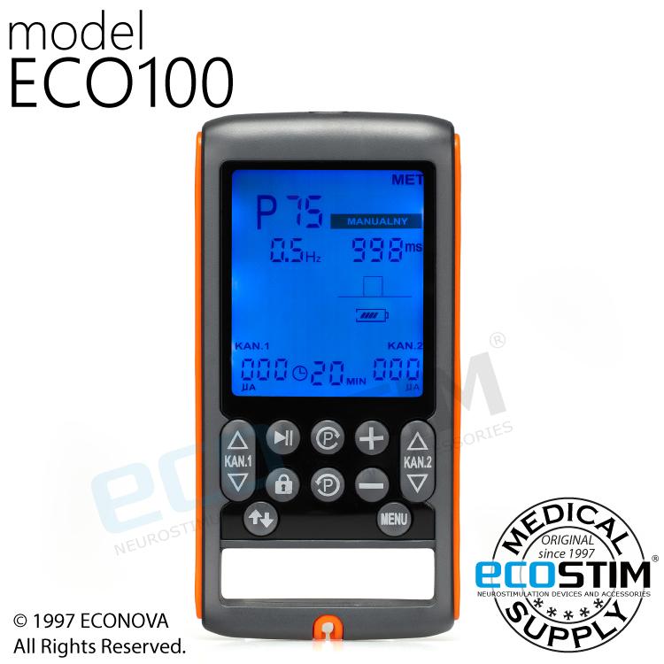 ELEKTROSTYMULATOR PRZECIWBÓLOWY I TRENINGOWY TENS/EMS/IFS/MET ECO100