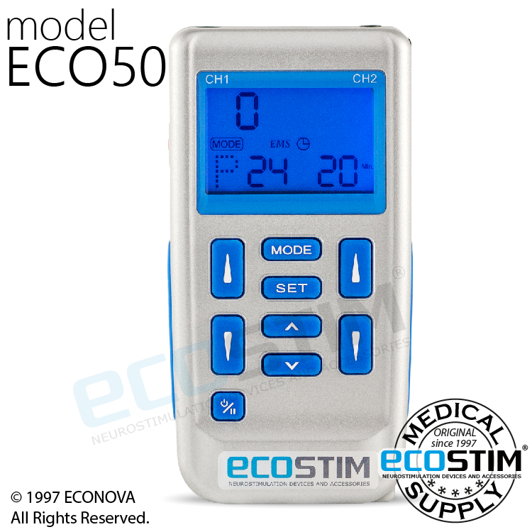 ELEKTROSTYMULATOR PRZECIWBÓLOWY I TRENINGOWY TENS/EMS ECO50